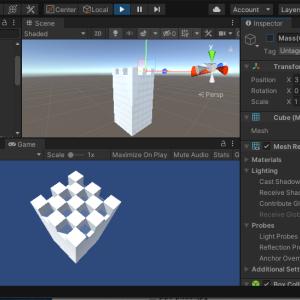 3Dテトリスのフィールドと1マス分のブロックを作る