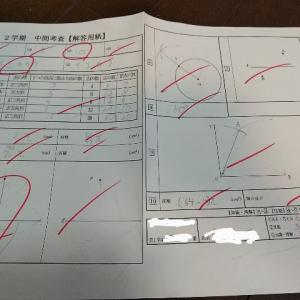 中学1年中間テスト数学図形6点 こんどこそ毎日勉強してみる