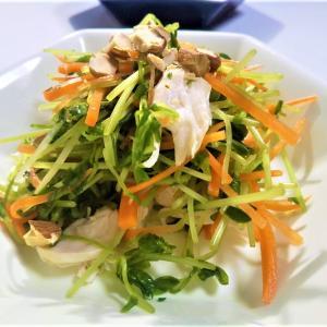 半分作り置きで料理が楽に!生で食べる【豆苗×人参】レシピ3種