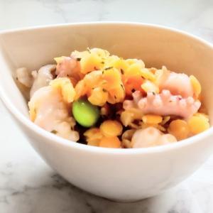 爽やか~な味『レンズ豆とタコのハーブサラダ』レシピ【レンズ豆➁】
