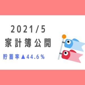 【2021年5月】30代共働き+3児の5人家族の家計簿公開!~貯蓄率▲44.6%~