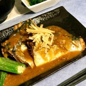 今夜はお家で定食屋気分♬ 鯖の味噌煮定食