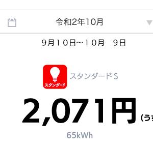 都内ひとり暮らしの電気料金 2020年10月〜こたつ生活突入〜