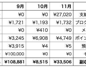 副収入公開(2020年11月)