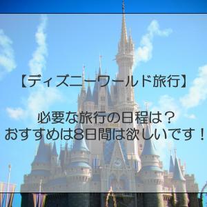 【ディズニーワールド】必要な旅行の日程は?おすすめは最低8日間!