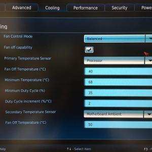 Intel NUC 10 パフォーマンス・キット NUC10i7FNH の BIOS Cooling 設定を変更した話(BXNUC10I5FNH,BXNUC10I3FNH)