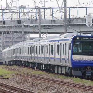 9月2日撮影 東海道線 茅ヶ崎~平塚間 E235系1000番台、15連フル編成の試運転と貨物列車3本を撮る