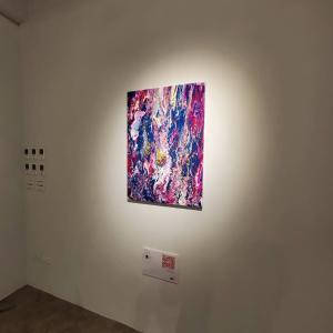 こんな感じで台湾で展示していました。 台北アートサロン2020