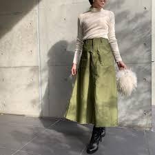 Moname モナーム ベイカー ロングスカート