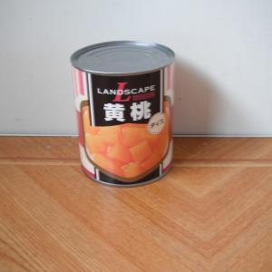 ビッグサイズの缶詰をまた105.84円(税抜き98円)で買いました。今度は黄桃です。