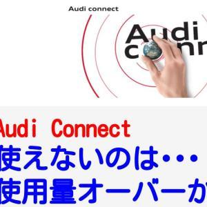 【Audi Connect】SIMの1G制限オーバーで利用停止になると、オンライン検索ができなくなります。【つながらない】