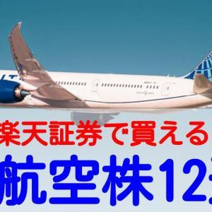 楽天証券で買える米国航空株12銘柄まとめ!金利上昇下でも株価上昇を期待!
