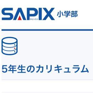SAPIX 5年の1週間の過ごし方(算数)
