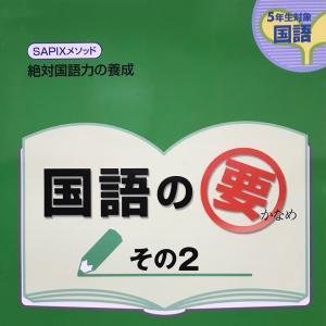 SAPIX 国語の要 夏休みの漢字テスト範囲が出る