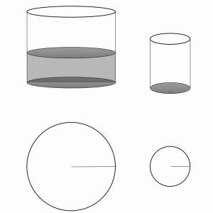 SAPIX 円柱の立体図形と比の混合問題が・・・大丈夫かな