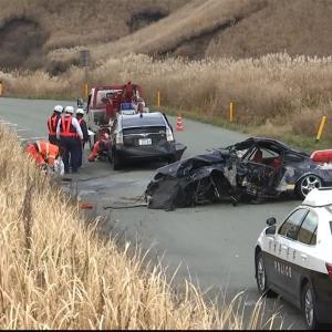 【熊本】ポルシェが中央線はみ出しか 乗用車正面衝突...2人死亡 1人重傷