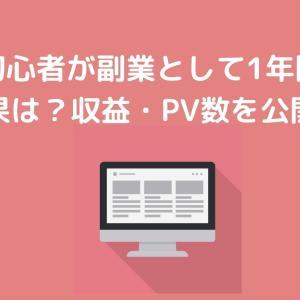 ブログ初心者が副業として1年間続けた結果は?収益・PV数を公開!これからブログ始める方は必見です!