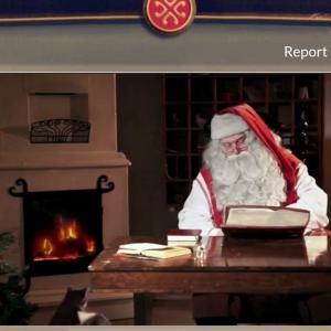 サンタクロースからのビデオレター