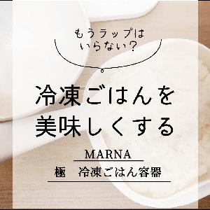 冷凍ごはんのラップ保存は卒業!「MARNAの極 冷凍保存容器」でいつでも炊きたての味!?