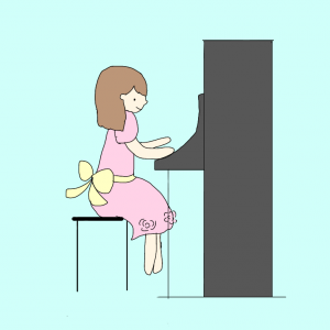私もカッコいい男の子みたいにピアノを弾きたい!