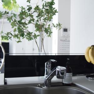 【キッチンインテリア】人気のtowerキッチンパネルで水はね防止対策