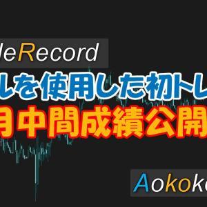 【トレード記録】新ツールを使用したトレードは利確撤退。1月中間成績公開あり。