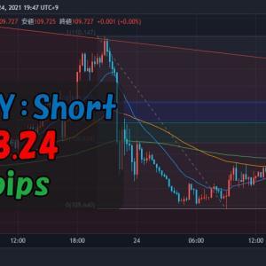 【トレード記録】2021.8.24 USDJPY:Short(+13.1pips)