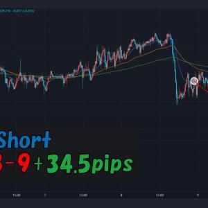 【トレード記録】2021.9.8 EURJPY:Short(+34.5pips)