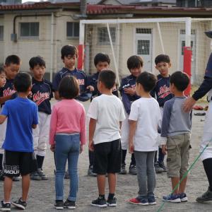 10月18日の少年野球体験会に参加頂きありがとうございました。