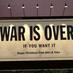 WAR IS OVER! IF YOU WANT IT AR巨大ビルボード