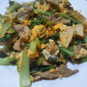 小松菜チャンプルとブリの照焼の夕飯 加湿器ランキング