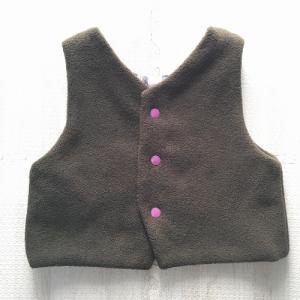 【挫折しない!子ども服レッスンBOOK】リバーシブルベストを作りました。