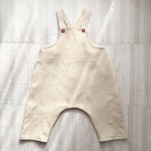 【小さな子どもの手づくり服】オーバーオール(80サイズ)を作りました