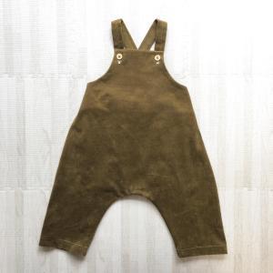 【小さな子どもの手づくり服】色違いでオーバーオール(80サイズ)を作りました