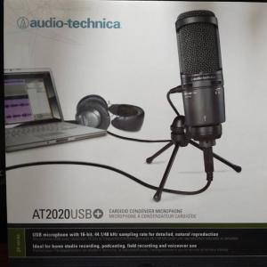 コンデンサーマイク「audio technica AT2020USB+」を購入した経緯と理由