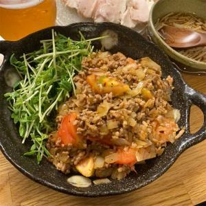 ひき肉のトマトバジル炒め ~【にんべん】の簡単だしを使って~
