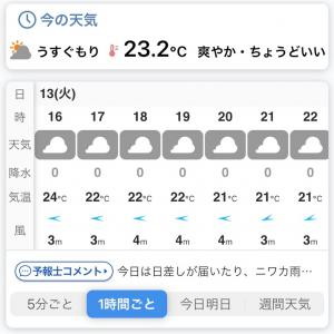 低気圧の秋、日本の秋