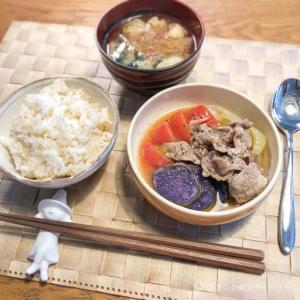 ランチで脂っこい外食をしたら、夕食はレンチン蒸し野菜。