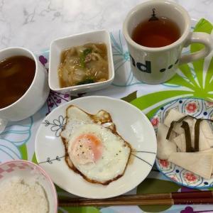 親子丼の夕食