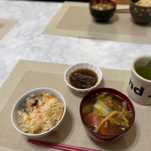 エビフライの夕食