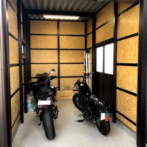 中部住器のバイクガレージ を簡単にDIYしてみた!