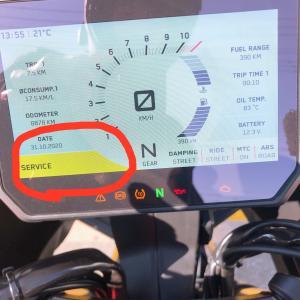 """KTM車のメーターに表示した""""SERVICE""""を消す方法!"""