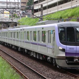 【メトロ】新型18000系 東急線乗務員訓練@6.23