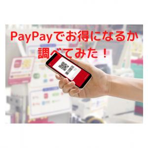 PayPayで支払いするとお得になるか調べてみた