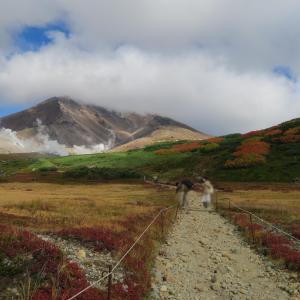 日本一早い紅葉を求めて 大雪山旭岳へ行ってきました