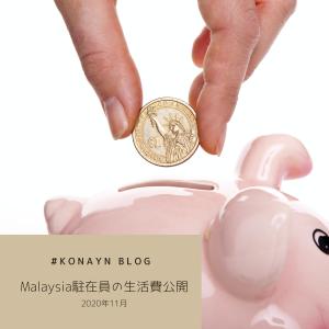 Malaysia駐在員の生活費公開,2020年11月【Malaysia 生活】