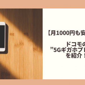 """【月1000円も安くなる】ドコモの""""5Gギガホプレミア""""を紹介!"""