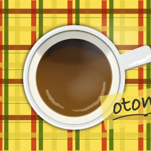 イノダコーヒーさんのカフェオレで、からだあっためてね…