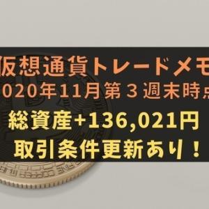 【仮想通貨】トレードメモ2020年11月第3週末時点【BTC,ETH,XPR取引条件更新】