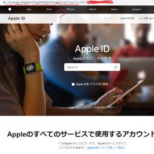 appleを装いフィッシング情報
